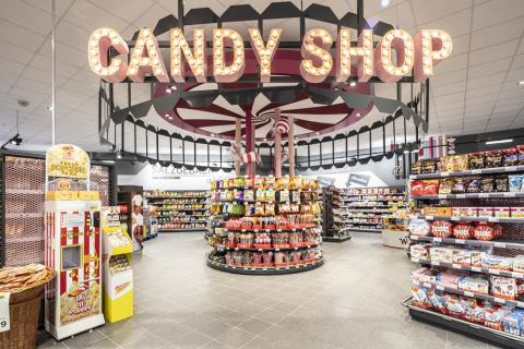 Candy shop in Retro bei Edeka Fitterer