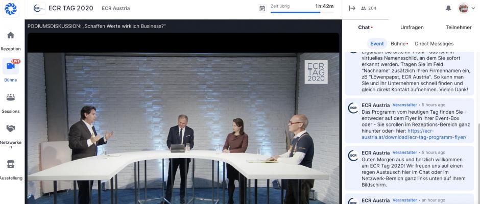 Traditionelle Podiumsdiskussion am ECR Tag 2020